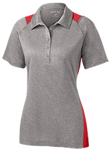Henry Public School Falcons Ladies Heather Moisture Wicking Polo