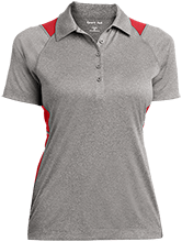 Reynolds Elementary School Ravens Ladies Heather Moisture Wicking Polo