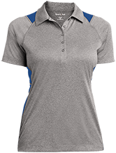 Oxford Middle School Chargers Ladies Heather Moisture Wicking Polo