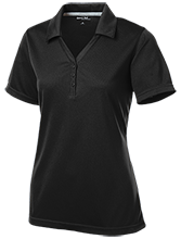 Clay Springs Elementary School Black Bears Womens Micro-Mesh Y-Neck Polo