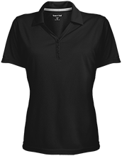 School Womens Micro-Mesh Y-Neck Polo