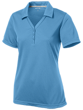 Lakes Middle School Wolverines Womens Micro-Mesh Y-Neck Polo