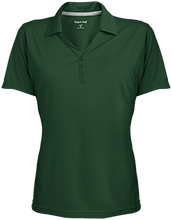 Main Street Middle School Gators Womens Micro-Mesh Y-Neck Polo