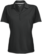 CIS Academy School Womens Micro-Mesh Y-Neck Polo