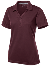 Ridge Elementary School Raccoons Womens Micro-Mesh Y-Neck Polo