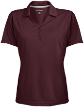 Bush Elementary School Dolphins Womens Micro-Mesh Y-Neck Polo