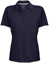 Woodside International School School Womens Micro-Mesh Y-Neck Polo