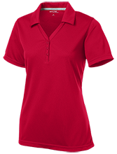 Henry Public School Falcons Womens Micro-Mesh Y-Neck Polo