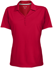 Rock Ledge Elementary School Raccoons Womens Micro-Mesh Y-Neck Polo