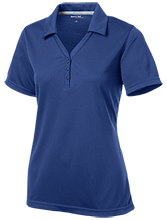 Ascension School Longhorns Womens Micro-Mesh Y-Neck Polo