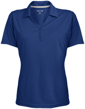 Milnor High School Bison Womens Micro-Mesh Y-Neck Polo