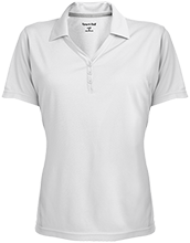 A H Parker High School Bison Womens Micro-Mesh Y-Neck Polo