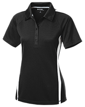 A H Parker High School Bison Ladies Custom Colorblock Three Button Polo