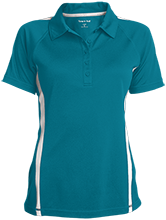 Swinburne Elementary School Roadrunners Ladies Custom Colorblock Three Button Polo