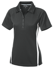Genoa Junior High School School Ladies Custom Colorblock Three Button Polo