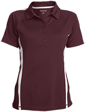 Madison Academy Mustangs Ladies Custom Colorblock Three Button Polo