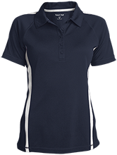 A R Carethers Academy Eagles Ladies Custom Colorblock Three Button Polo