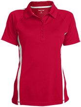 Crossroads Christian School Cougars Ladies Custom Colorblock Three Button Polo