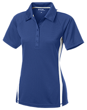 Ponitz Career Technology Center Golden Panthers Ladies Custom Colorblock Three Button Polo
