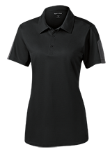 Fort Lee Elementary School #1 School Ladies Performance Textured Three-Button Polo