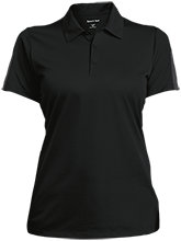 Bush Elementary School Dolphins Ladies Performance Textured Three-Button Polo