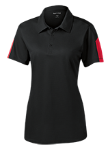 Little Mountain Elementary School Mustangs Ladies Performance Textured Three-Button Polo