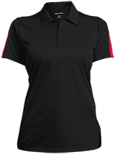 Crossroads Christian School Cougars Ladies Performance Textured Three-Button Polo
