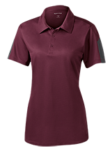 Madison Academy Mustangs Ladies Performance Textured Three-Button Polo