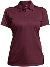 Heritage High School Hurricanes Ladies Performance Textured Three-Button Polo