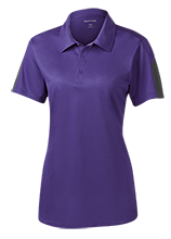 New Berlin Eisenhower High School  Lions Ladies Performance Textured Three-Button Polo
