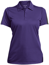 Patterson Elementary School Panthers Ladies Performance Textured Three-Button Polo