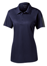 Maranatha Baptist Academy Crusaders Ladies Performance Textured Three-Button Polo