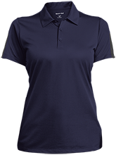 Henderson School Tigers Ladies Performance Textured Three-Button Polo