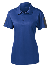 Lynn Elementary School Eagles Ladies Performance Textured Three-Button Polo