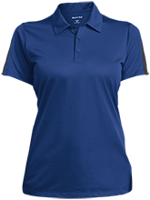 Milnor High School Bison Ladies Performance Textured Three-Button Polo