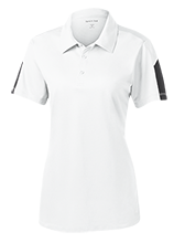 Quincy High School Presidents Ladies Performance Textured Three-Button Polo