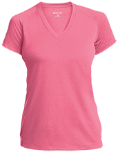 Baby Shower Ladies Performance V-Neck T-Shirt