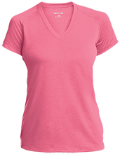Aids Research Ladies Performance V-Neck T-Shirt