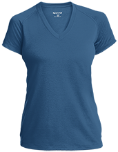 Saratoga Independent School Blue Streaks Ladies Performance V-Neck T-Shirt