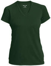 Lakewood Lutheran School Lepers Ladies Performance V-Neck T-Shirt