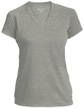 Memorial Junior High School-Mentor School Ladies Performance V-Neck T-Shirt