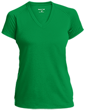 North Center School Frogs Ladies Performance V-Neck T-Shirt