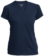Lansing Eastern High School Quakers Ladies Performance V-Neck T-Shirt