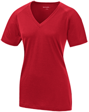 Bucyrus Middle School Redmans Ladies Performance V-Neck T-Shirt