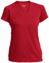 Cuyahoga Heights High School Redskins Ladies Performance V-Neck T-Shirt