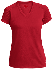 Tecumseh Junior Senior High School Braves Ladies Performance V-Neck T-Shirt