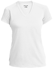 Janesville Parker High  School Vikings Ladies Performance V-Neck T-Shirt