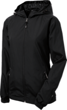 Black Hawk Middle School Panthers Ladies Jersey-Lined Hooded Windbreaker