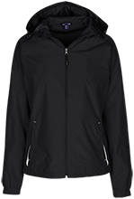 Harrison Elementary School Hawks Ladies Jersey-Lined Hooded Windbreaker