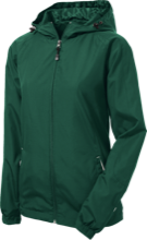 Janesville Parker High  School Vikings Ladies Jersey-Lined Hooded Windbreaker
